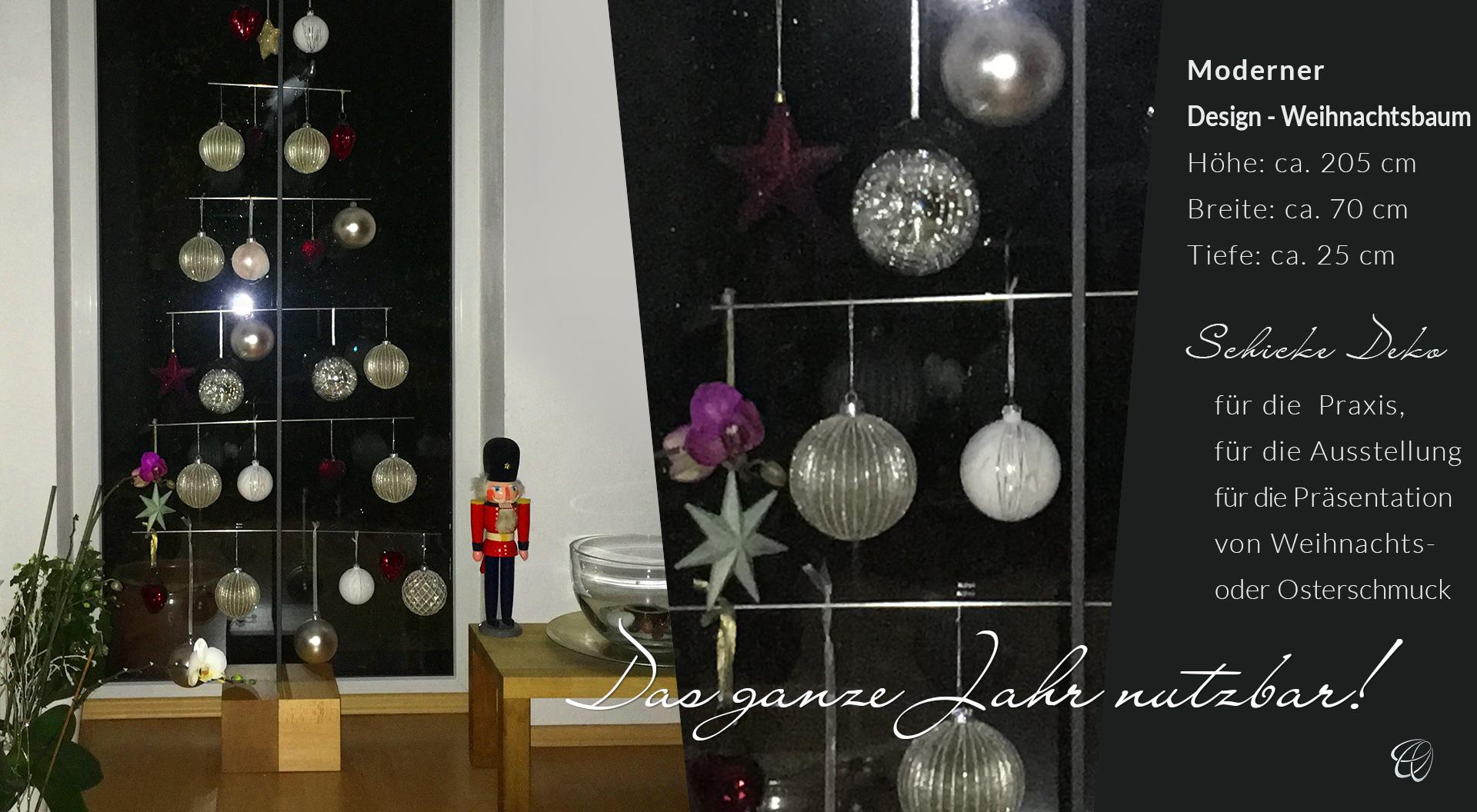 Moderner Design Weihnachtsbaum Aus Edelstahl Holz Und